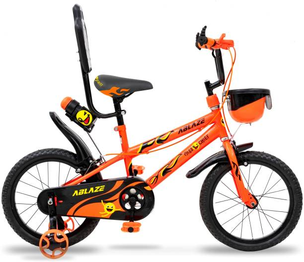 Miss & Chief Ablaze Durable Semi Assembled Kids Bicycle with Accessories and Steel Rim 16 T 18 T BMX Cycle