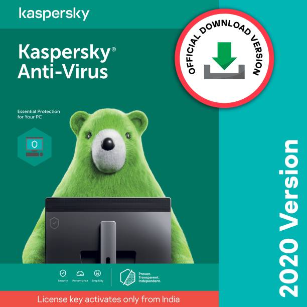 Kaspersky 1 PC 1 Year Anti-virus (Email Delivery - No CD)