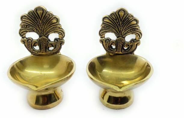 RAMA METAL BRASS DIYA (PACK OF 2) Brass (Pack of 2) Table Diya Set