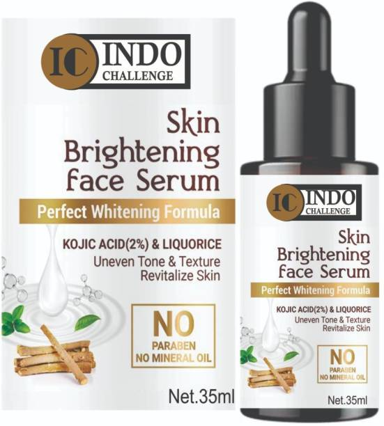 INDO CHALLENGE Vitamin C Serum Skin Brightening , Fairness, Improved, Face Whitening Pigment ,Natural Glowing Beauty , hyaluronic acid for glowing youthfull improved shine , Alovera Extract , White Beauty Anti Spot Fairness ,, fine Line & Sun Damage Corrector , Age - Defring , Ageless Serum , Booster Serum, Anti AGING Skin Repair , Dark Circle