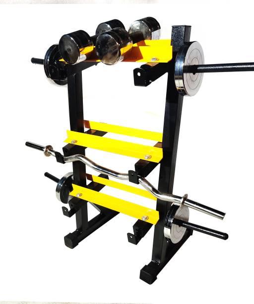 Protoner 3 in 1 Dumbbell rack, plate and bar holder Multipurpose Fitness Bench