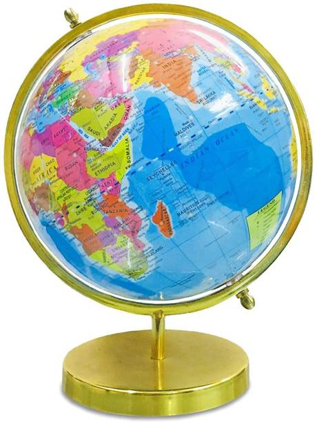 Weston9x Globe for Kids Learning, for Office Table - Full Golden Arc Political Globe for Students / Home Decor / World Globe / Office Decor - 8 Inch Office Globe Political World Globe