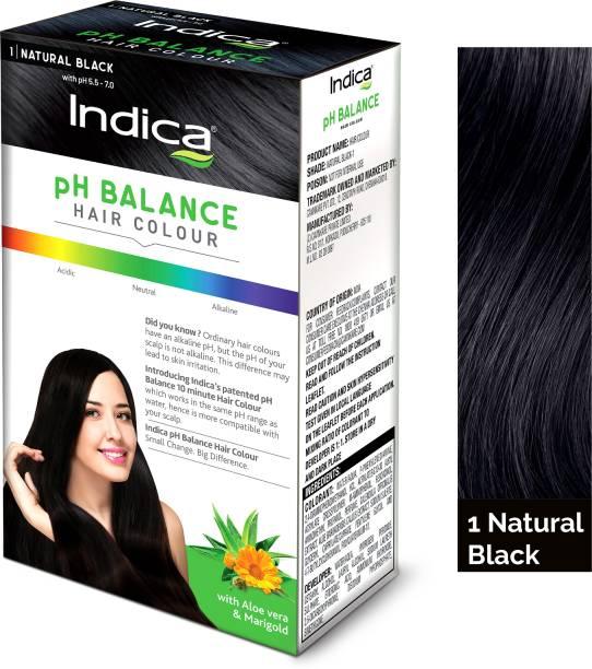 Indica PH BALANCE Hair Color Natural Black 40 gm , Natural Black