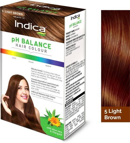 Indica PH BALANCE Hair Color Light Brown 40 gm , Light Brown