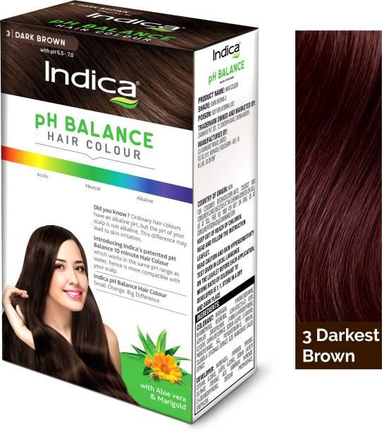 Indica PH BALANCE Hair Color Dark Brown 40 gm , Dark Brown