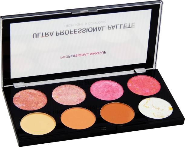 FIRSTZON Highlighter & blusher & contour combo makeup palette Highlighter