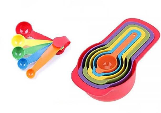 WANQLYN 1020 Combo 11 pcs Colourfull Measuring cups Kitchen Tool Set