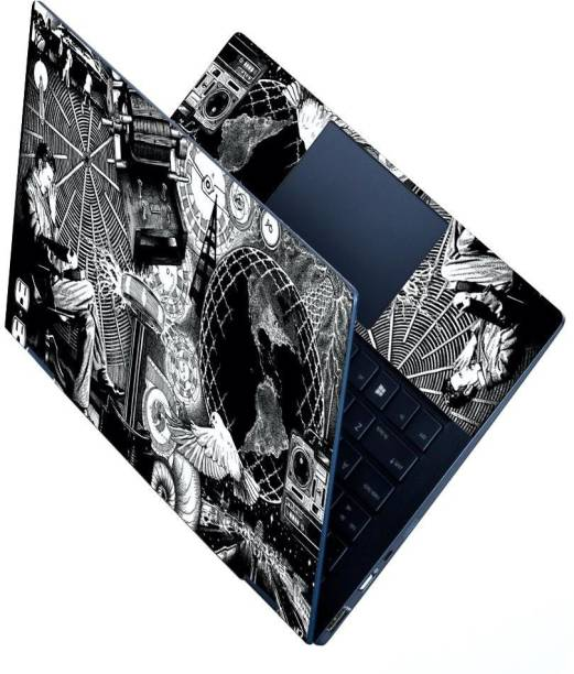 Anweshas HD Printed Full Panel Laptop Skin Sticker Vinyl Fits Size Upto 15.6 inches No Residue, Bubble Free - Nikola Tesla Stretchable Vinyl - Easily Cover Corners Laptop Decal 15.6