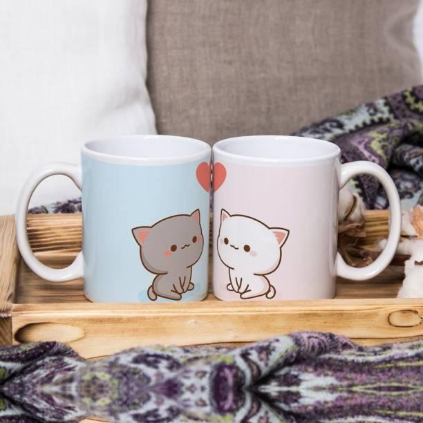Flipkart SmartBuy Cute Cats Ceramic Coffee Mug