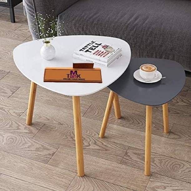 Furniture Hub Solid Wood Nesting Table