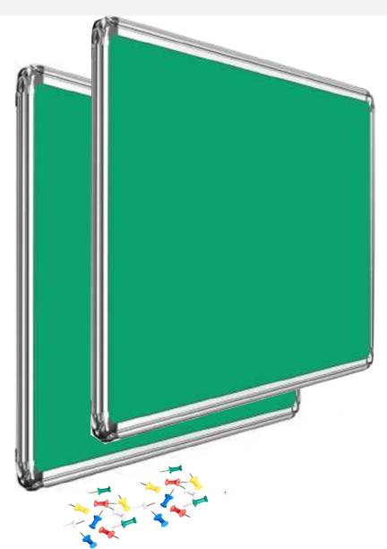 JAGMONI 3x4 feet Set of 2 Noticeboard/Pin-up Board/Soft Board/Bulletin Board/Pin-up Display Board for Home, Office School, Institutes, Colleges, University, Coaching centre, Exhibition, Notification and Updates - Pack of 2 Notice Board with Pins (packet) 3X4 ft Notice Board (120 cm x 90 cm) JMNB-4558 Notice Board