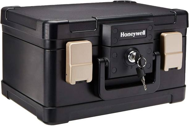Honeywell Safes & Door Locks - 30 Minute Fire Safe Waterproof Safe Box Chest with Carry Handle, Small, 1102 Safe Locker
