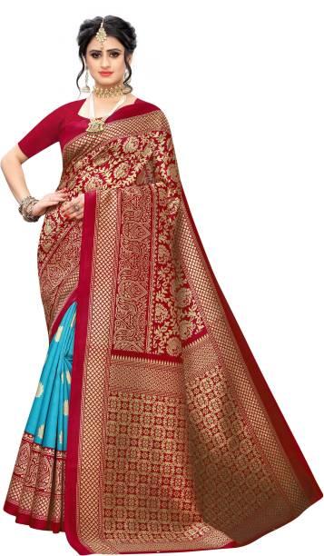 Parvati Creation Printed Banarasi Art Silk Saree