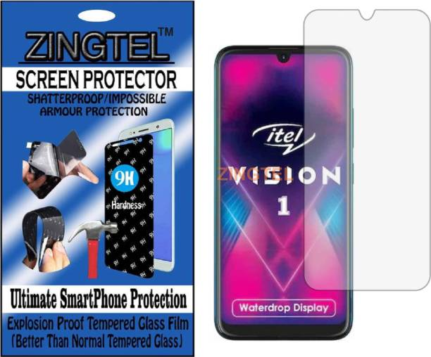 ZINGTEL Tempered Glass Guard for ITEL VISION 1 (Flexible, Unbreakable)