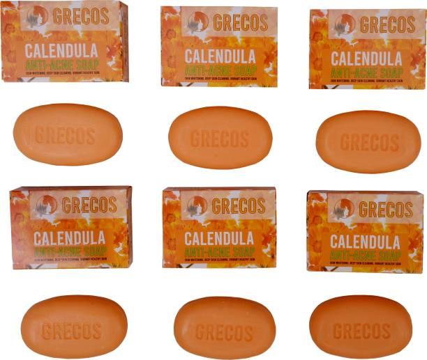 GRECOS Calendula anti acne soap - pack of 6