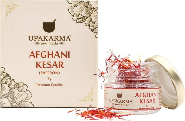 UPAKARMA Certified Natural, Pure and Organic Finest A++ Grade Afghani Kesar / Saffron Threads 1 Gram