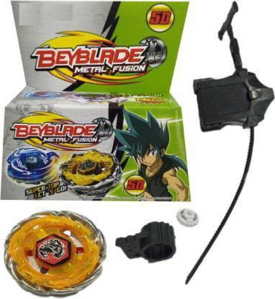 CrazyBuy 5D Beyblade Metal Fusion Super Top with Launcher