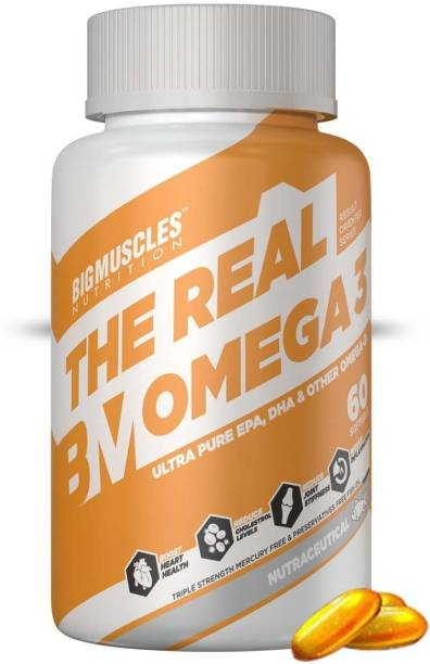 BIGMUSCLES NUTRITION Omega-3 Fish Oil Triple Strength|High Strength DHA EPA Supplement|Mercury Free