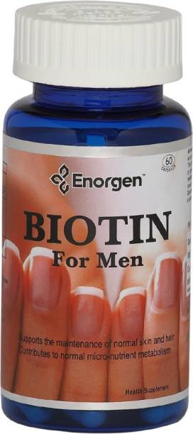 Enorgen Biotin for Men - Max Strength 10,000 (mcg) with Nutrients for hair, skin & nails