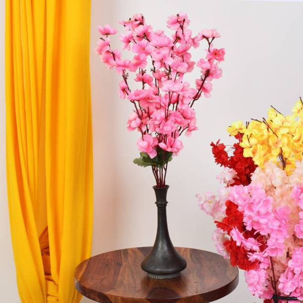 Ryme Baby Pink Color Orchids Flower Bunch With Green Leaf For Home Decoration Pink Orchids Artificial Flower