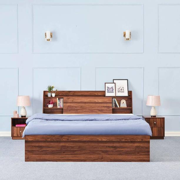 Wakefit Leo Engineered Wood Queen Box Bed