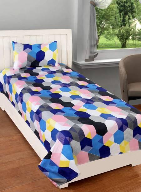 SS88 HOMES 180 TC Polycotton Single Geometric Bedsheet