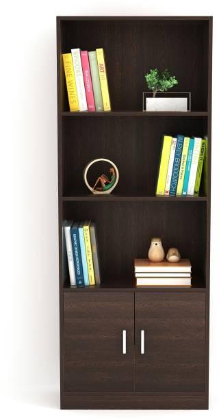 BLUEWUD Seonn Engineered Wood Semi-Open Book Shelf