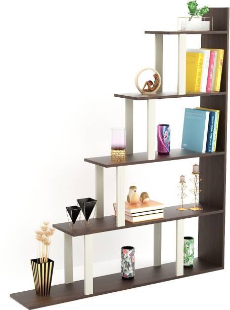 BLUEWUD Wolabey Engineered Wood Open Book Shelf