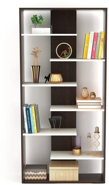 BLUEWUD Maxelle Engineered Wood Open Book Shelf
