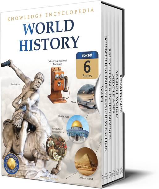 World History - Collection of 6 Books : Knowledge Encyclopedia For Children (Box Set) - By Miss & Chief