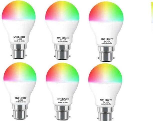 MVL 9 W Round B22 LED Bulb