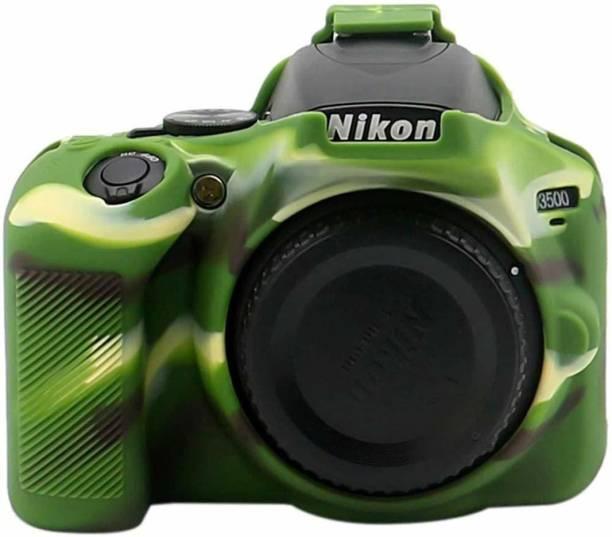 DEALPICK AMZY Silicon Cover for Nikon D3500 Camera Case, Professional Silicone Rubber Camera Case Cover Detachable Protective for Nikon D3500 - Military Green Camera Housing