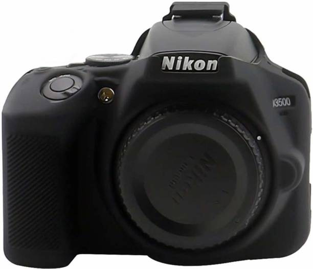 DEALPICK AMZY Silicon Cover for Nikon D3500 Camera Case, Professional Silicone Rubber Camera Case Cover Detachable Protective for Nikon D3500 - Black Camera Housing