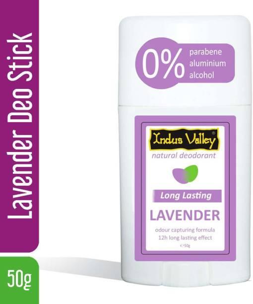 Indus Valley Lavender Natural Deodorant Stick  -  For Men & Women