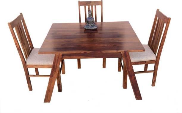 Shree Nakoda Exports Solid Wood 3 Seater Dining Set