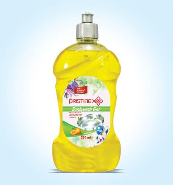 PRISTINE X Dishwash Liquid Gel Lemon, With Lemon Fragrance, Leaves No Residue Dish Cleaning Gel