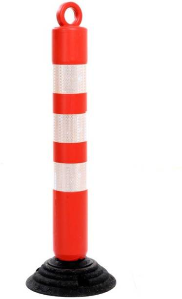 DARIT ROAD Bollards/Road Barricades With Rubber Base Emergency Sign