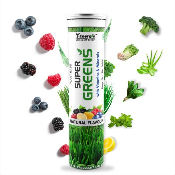 Yenergie Super Greens includes combinations of 14 Super Foods and vitamins Nutrition Drink