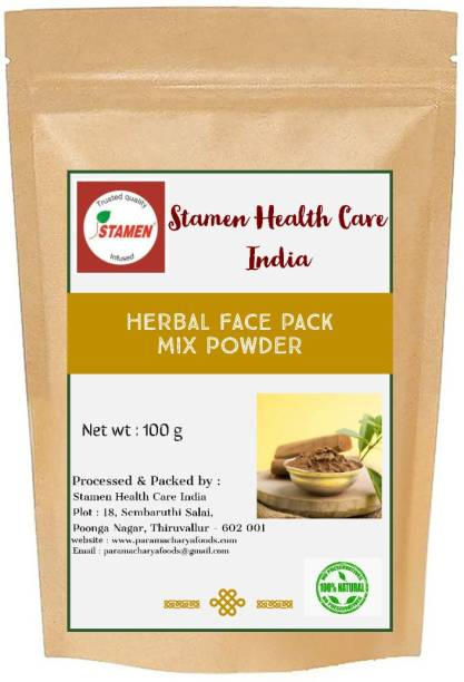 Stamen Health Care India Herbal Face Pack Mix Powder