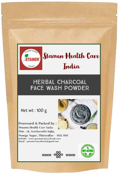 Stamen Health Care India Herbal Charcoal  Powder Face Wash