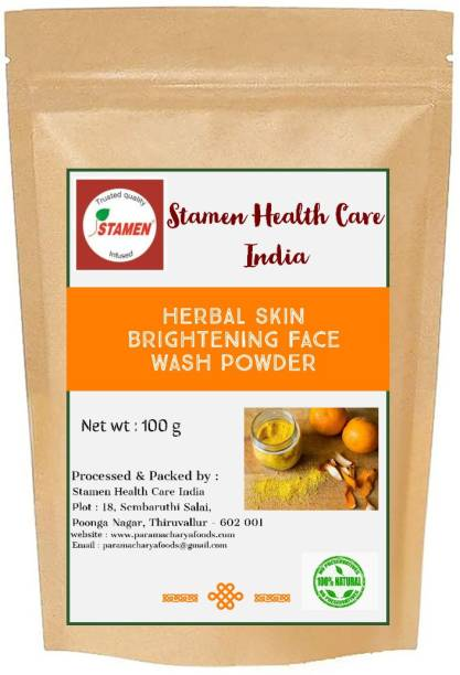 Stamen Health Care India Herbal Skin Brightening  Powder Face Wash
