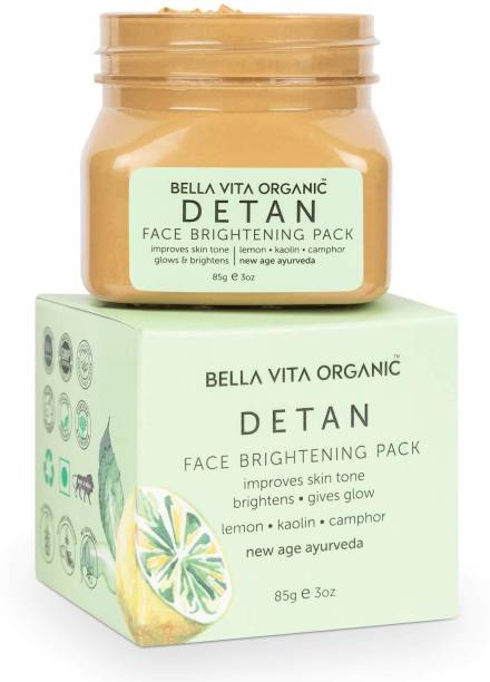 Bella vita organic De Tan Removal Face Pack For Glowing Skin, Oil Control, Acne, Pimples, Blemishes, Pigmentation & Brightening