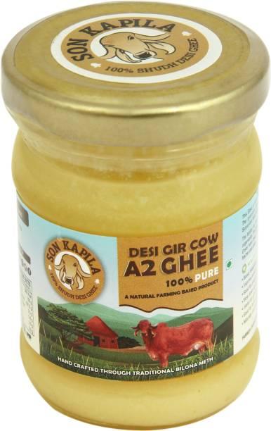 SONKAPILA Farms A2 Cultured Desi Cow Ghee Ghee 100 ml Glass Bottle
