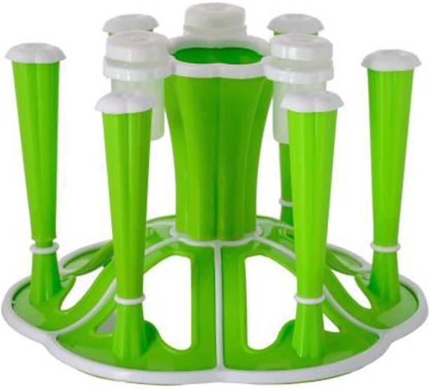 zms marketing GLASS NEW 0143 Plastic Spice Racks, Glass Holder