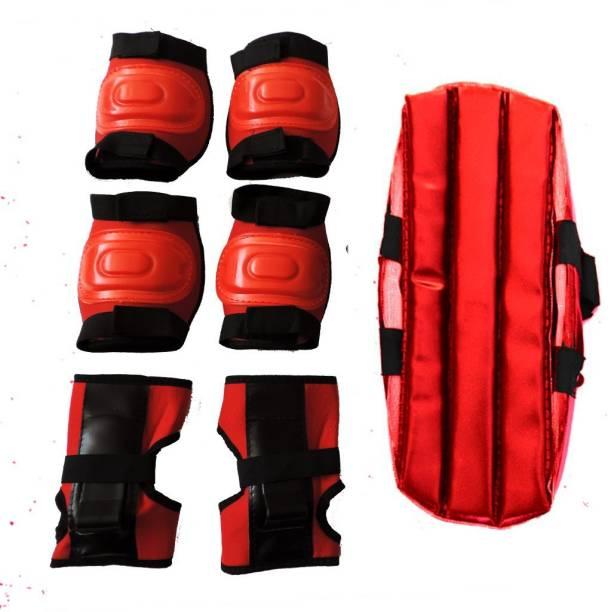FIT & FITNESS Kids Skating Safety Gear Skating Guard Combo (Red) Skating Guard Combo