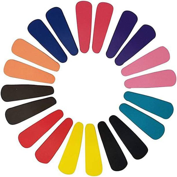 Raostar Multi-Colour Plastic on Metal Tik Tak Hair Clips Hair Accessory Tic Tac Clip-20 pcs(Multicolor) Tic Tac Clip
