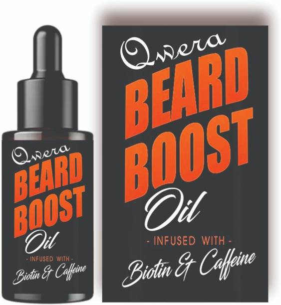 Qwera Beard Oil - 100% Fast Growth , Naturally Growth , Extra Growth Booster Beard Black Beast For Men Infused,New Improved Beard Oil ,Faster Then Other , Intense Growth Oil Hair Oil