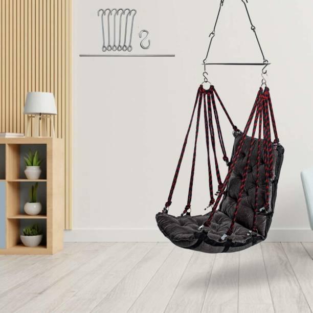 Swingzy Soft Leather Velvet Hanging Swing Cotton Hammock