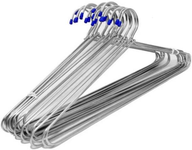 Flipkart SmartBuy Gloss Finish Thick Wire Heavy Duty Steel Pack of 12 Hangers