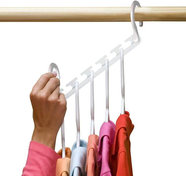 Shopper52 8-Pack Wonder Hanger Closet Organizer Closet Space Saver Wardrobe Clothes Hook Organizer - 8PCHANGER Regular Organizer, Closet Organizer, Scarf Organizer